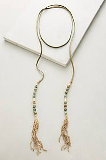Beaded Suede Necklace