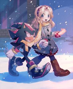 Cold walk | Sonic the Hedgehog | Know Your Meme - I... I just realized they're sharing the scarf. Can't take such amount of sweetness.