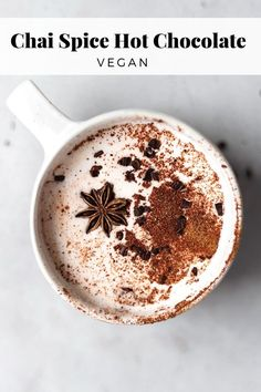 Hot Chai Chocolate - OMG I need this in my life! I'm such a chai lover. Chai everything! Vegan Hot Chocolate, Hot Chocolate Recipes, Delicious Chocolate, Hot Chocolate Latte, Hotel Chocolate, Chocolate Smoothies, Chocolate Roulade, Christmas Hot Chocolate, Chocolate Shakeology