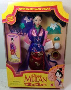 NRFB Disney's Matchmaker Magic Mulan doll 1997 by Mattel< have this barbie from when I was 4 yrs old
