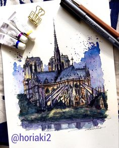 Akihito Horigome (@horiaki2) в Instagram: Notre Dame Cathedral , Paris #france #paris #aquarell #art #painting #watercolor #watercolour #sketch #paint #drawing #sketching #sketchbook #travelbook #archisketcher #sketchaday #sketchwalker #sketchcollector #traveldiary #topcreator #usk #urbansketch #urbansketchers #скетчбук #скетч #скетчинг #pleinair #aquarelle #watercolorsketch #usk #architecture #painting #illustration