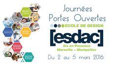 [ ESDAC ] Journées Portes Ouvertes 2016 Aix En Provence, Ecole Design, Plus Tv, Conception, Monopoly, Communication Design, Open House, Products