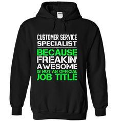 Customer Service Specialist T-Shirts, Hoodies. BUY IT NOW ==► https://www.sunfrog.com/Funny/Customer-Service-Specialist-Black-Hoodie.html?id=41382