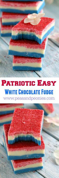 Patriotic Easy Fudge