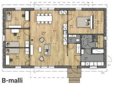 3 D, Sweet Home, Floor Plans, Beach House, Cabin, Flooring, How To Plan, Building, Home