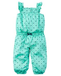 Baby Girl Polka Dot Jumpsuit from Carters.com. Shop clothing & accessories from a trusted name in kids, toddlers, and baby clothes.