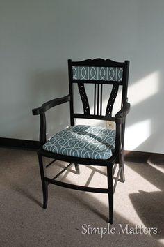 Black antique accent chair