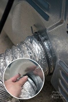 Clean dryer vent to prevent fires! pinch_to_remove_dryer_hose