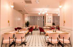 pink restaurant interior design picktwo studio : pink restaurant chairs