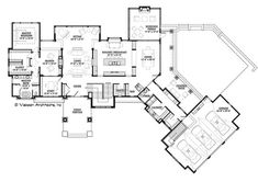 Contemporary Floor Plan - Main Floor Plan Plan #928-287