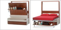 Folding Beds, great for studio apartment or small spaces.