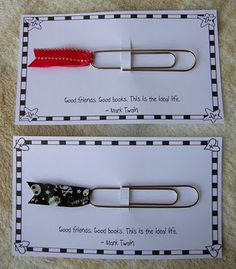 Tape bookmarks, made after seeing them on Pinterest