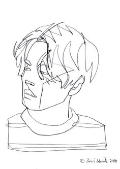 """Gaze 494″, continuous line drawing by Boris Schmitz"