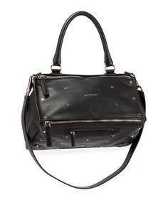 Love+this+by+GIVENCHY Pandora Mini Metal Cross-Studded Satchel Bag, Black - $2150