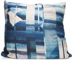 Indigo Offset Throw Pillow by elise flashman Blue Pillows, Throw Pillows, Beach Color Schemes, Rearranging Furniture, Beach Room, Comfy Sofa, Family Room Design, Burke Decor, Living Room Designs