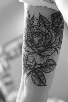 Image result for shading black white flower tattoo