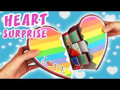CARD SURPRISE HEART - Valentine`s Card DIY, aPasos Crafts DIY. 【 CARD MAKING 】? In this video we show how to make a card heart, you can write beautiful messages and paste photos hidden inside. Valentine`s crafts. Pattern and Color Paper: . Handmade Birthday Gifts, Diy Birthday, Diy Crafts For Girls, Diy Arts And Crafts, Diy Valentines Cards, Valentine Crafts, Origami, Fun Fold Cards, Diy Cards