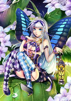 紫陽花と妖精