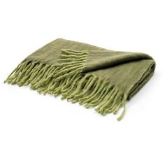 Hanlon throw ($339) ❤ liked on Polyvore featuring home, bed & bath, bedding, blankets, green blanket, green throw, green throw blanket and green bedding