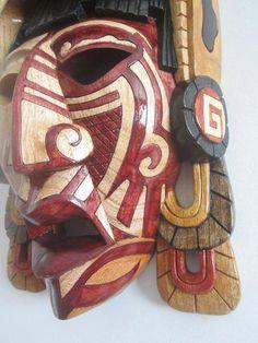 Mayan  Jaguar Warrior Mask   Sculpture in by TheFantasticAztec, $339.00