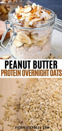Creamy peanut butter overnight oats that's high in protein and a healthy way to start your day! Family Vegetarian Meals, Healthy Vegetarian Breakfast, Healthy Baby Food, Healthy Toddler Snacks, Clean Eating Breakfast, Healthy Eating For Kids, Vegetarian Recipes Dinner, Dinner Recipes, Pasta Recipes For Kids