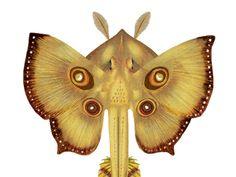 Xenobiology - Alien Biology Art Series - Alien Butterfly Ray - Dainty Brimstone 8x10 Print by Marabelle Hincher, artofmarabelle on Etsy, $40.00. Yellow alien butterfly sting ray modeled after a Yellow Sulfur.
