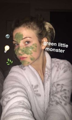 "[open RP w/ Sage] I was exfoliating my face with seaweed paste. When you walk in. ""You look like a green lil monster."" You say and I laugh, ""Why thank you!"""
