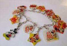 """Vintage Armschmuck - *Zauberhaftes Sammelarmband """"Minnie Mouse""""* - ein Designerstück von Camden-Market bei DaWanda"""