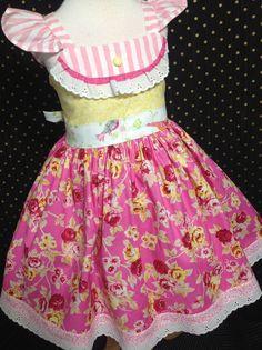Easter Girl Dress Size 5; Sasha; Handmade;  All Seasons; 100% Cotton #Handmade #DressyEverydayPageantParty