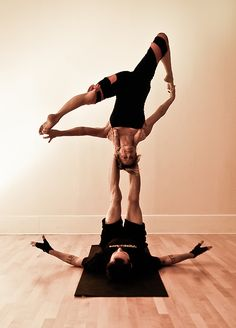 Acro Yoga - consists of seven elements: circle ceremony, asana, partner flow, Thai massage, therapeutic flying, inversions & spotting, and partner acrobatics. Cultivates union with your partner and with the Divine.