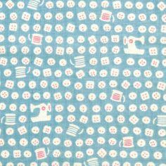 【レトロ小紋てぬぐい】 カタカタミシン (日本製・綿100%) 525円