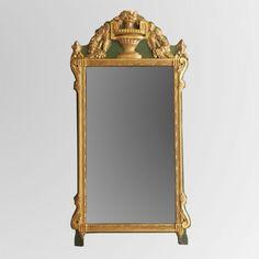 Miroir Mural Rouge Marron Or Baroque Miroir Salle de Bain Couloir Miroir Ancien Baroque-Cadre