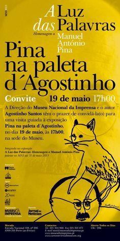 """Visita guiada à exposição """"Pina na paleta d' Agostinho"""", dia 19 de Maio, às 17h"""
