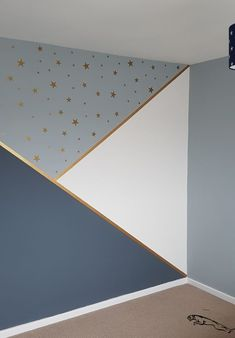 Progress in kindergarten, # progress - Baby Room DIY - Babyzimmer Baby Bedroom, Baby Boy Rooms, Baby Room Decor, Nursery Room, Bedroom Wall, Bedroom Decor, Star Bedroom, Kids Bedroom, Room Wall Painting