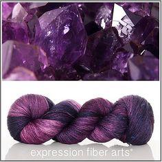 Ravelry: Expression Fiber Arts Superwash Merino Silk Pearlescent Fingering - February Amethyst