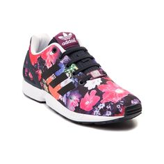 Add some floral flair to your athletic style with the new ZX Flux Athletic Shoe from adidas! A modern take on a classic adidas running style, this adidas ZX Flux athletic sneaker features floral prints on textile uppers, with rubber molded heel cage for stability, and signature adidas side stripes. Available for shipment in December; Pre-order yours today!    Features include   Breathable textile uppers   Rubber molded heel cage provides durable stability   Lace closure offers a secure fit…