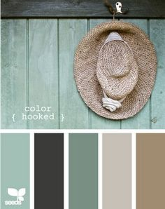 Kitchen colors Living Room, Color Palette Living room-This is so serene. Design Seeds-for those who love color! Paint Schemes, Colour Schemes, Color Combos, Rustic Color Schemes, Color Trends, Coastal Color Palettes, Coastal Colors, Colour Palettes, Rustic Colors