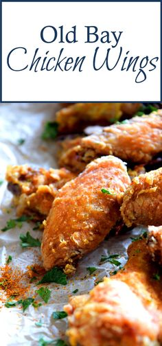Old Bay Chicken Wings - Lord Byrons Kitchen # Easy Recipes fish Chicken Recipes Healthy Oven, Baked Chicken Recipes, Pork Recipes, Easy Recipes, Chicken Receipe, Actifry Recipes, Catfish Recipes, Smoker Recipes, Oven Recipes