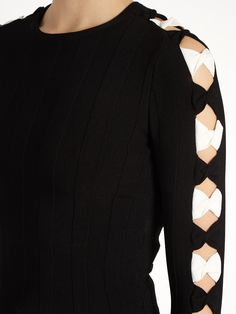 Click here to buy Alexander McQueen Bow-detail cropped sweater at MATCHESFASHION.COM