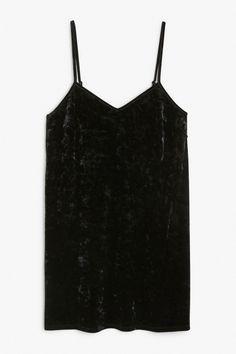 Monki Image 1 of Velvet dress in Black