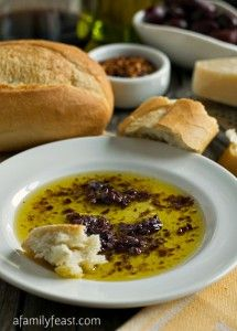 Olive Dipping Sauce - A simple but super flavorful way to begin any Italian-inspired meal! Serve with warm, crusty Italian bread and soak up this amazing sauce!