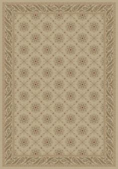 Imperial Charlemagne Ivory Aubusson Area Rug