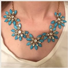 LAST ONE! Light Blue Floral Chain Necklace Jump into summer with this floral necklace! Jewelry Necklaces