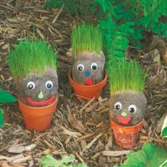 How To Make These Grassy Garden Gnomes A Great Project To Do With Kids