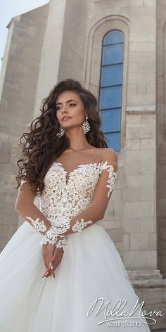 Milla Nova 2016 Bridal Wedding Dresses / http://www.deerpearlflowers.com/milla-nova-wedding-dresses/2/