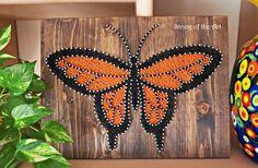 DIY String Art Kit Butterfly DIY Kit Home Decor by StringoftheArt
