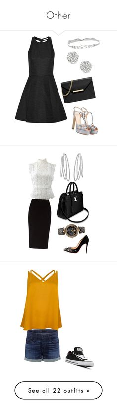 """""""Other"""" by mil0000000000000 ❤ liked on Polyvore featuring Francesco Russo, Alice + Olivia, MICHAEL Michael Kors, Jenny Packham, Oscar de la Renta, The Row, Christian Louboutin, Messika, Versace and River Island"""