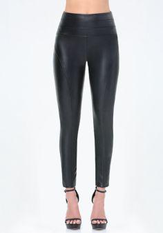 Faux Leather High Leggings