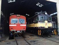 岳南電車 電車の車庫(新赤がえる)