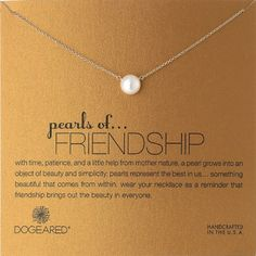 Dogeared Pearls of . . . Friendship Pearl Necklace. Best Friendship Day Gifts…